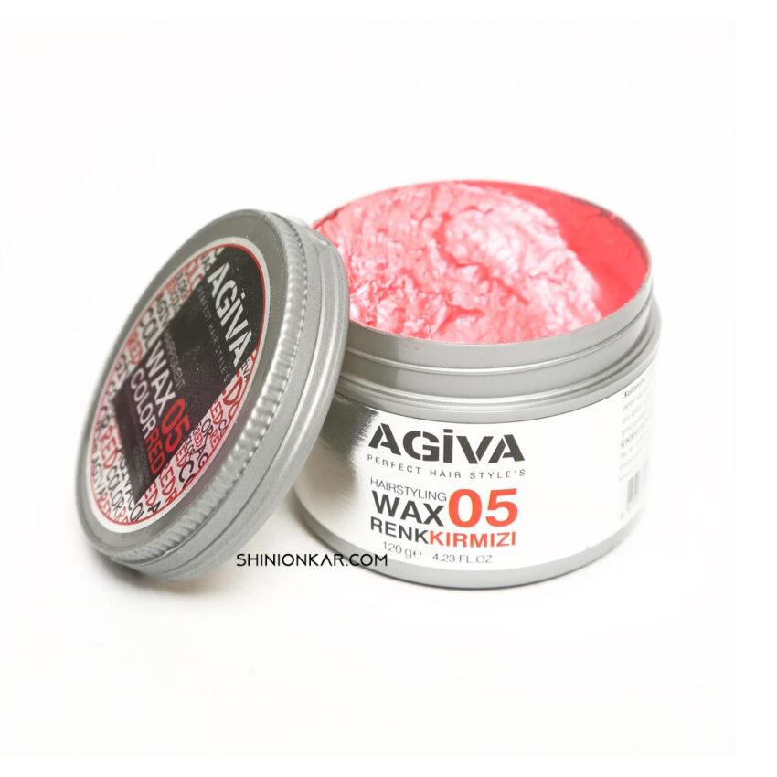 واکس مو رنگی آگیوا قرمز مدل 05