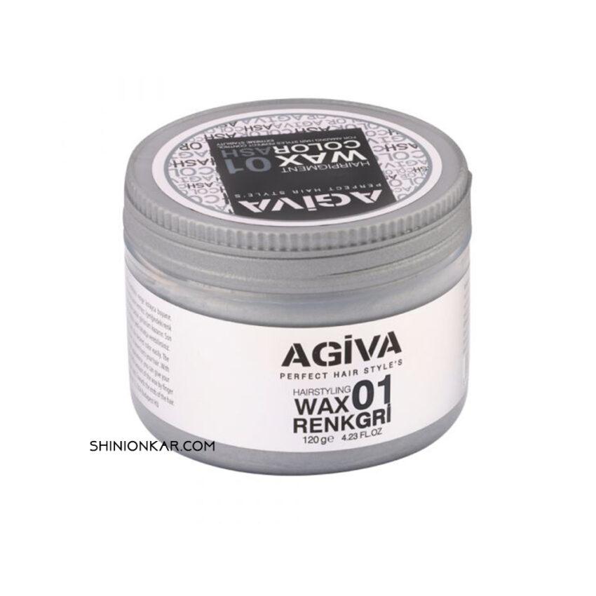 واکس رنگی آگیوا خاکستری مدل 01
