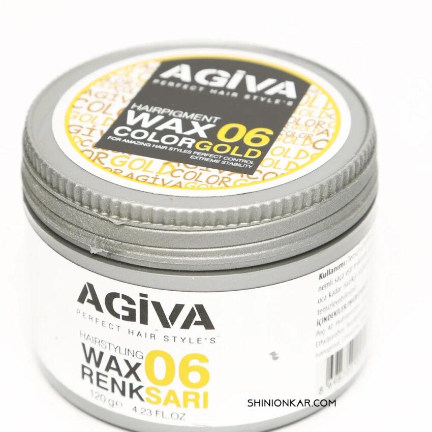 واکس مو رنگی آگیوا زرد مدل 06