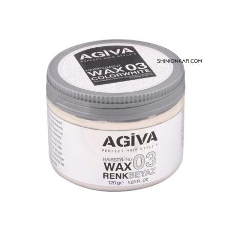 واکس مو رنگی آگیوا سفید مدل 03