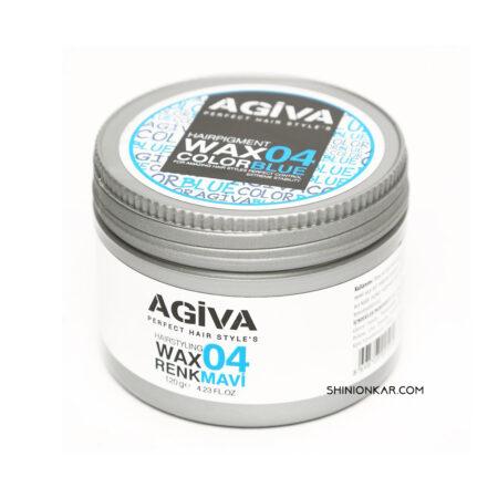 واکس مو رنگی آگیوا آبی مدل 04